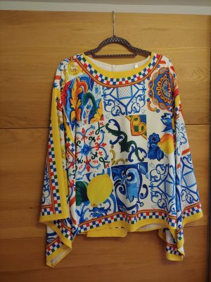 Pantalone a 7/8 multicolore Tessuto misto