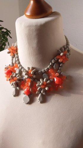 Zara Accesoires Colliers ras du cou argenté-orange fluo