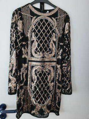Sehr schönes elegantes Kleid von Raga in der Gr. M schwarz/gold hoher Neupreis einmal getragen
