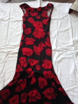 Orsay Robe stretch rouge-noir viscose