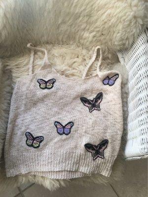 Sehr schönes Häckelshirt von H& M mit Schmetterlingen . Größe M