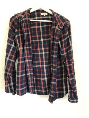 Aigle Camisa de manga larga azul-rojo neón