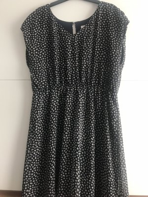 C&A Clockhouse Shortsleeve Dress dark blue-white