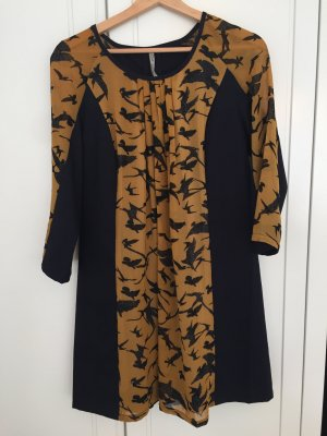 CO2 Longsleeve Dress dark blue-gold orange