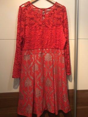 Bodyflirt Evening Dress silver-colored-red