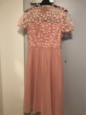 Chi Chi London Chiffon Dress dusky pink