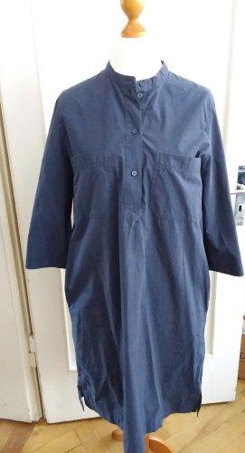 COS Vestido tipo blusón gris antracita-taupe Algodón