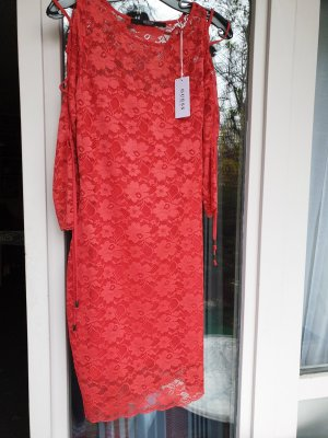 Guess Abito in pizzo rosso
