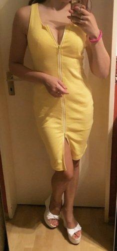 100% Fashion Robe crayon jaune
