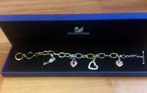 Swarovski Bracelet silver-colored-pink