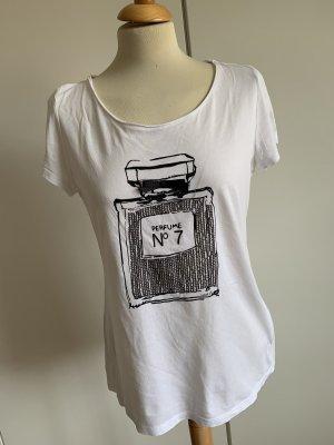Hallhuber T-shirt biały-czarny