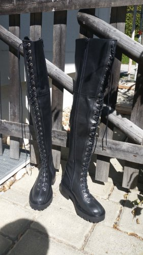 Sehr seltene ZARA OVER KNEE LEDERBOOTS Gr.36 / UK3