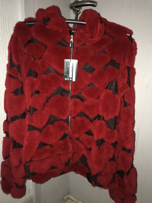 Jaded London Chaqueta de forro polar rojo ladrillo