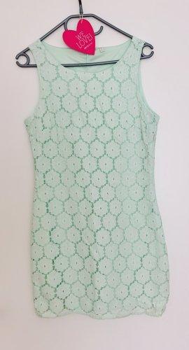 Sehr süßes fancy Kleid Spitze mintgrün mit Blumen Blüten sexy figurbetont in Größe L 40 Neu ohne Etikett