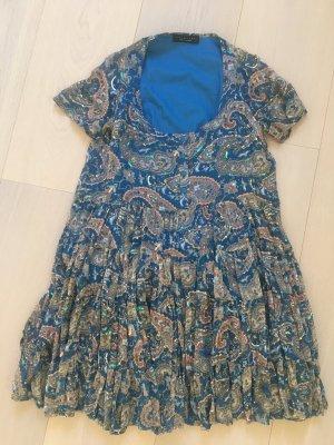 Twin set Mini Dress steel blue cotton