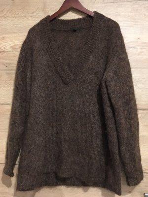 COS Wool Sweater black brown