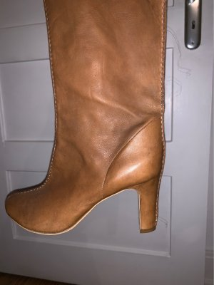 manufacture d'essai Wide Calf Boots cognac-coloured