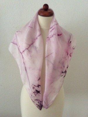 Handarbeit Foulard en soie lilas-rose