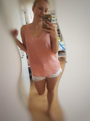 Massimo Dutti Silk Top nude-pink