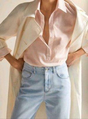Massimo Dutti Shirt Blouse white-pink