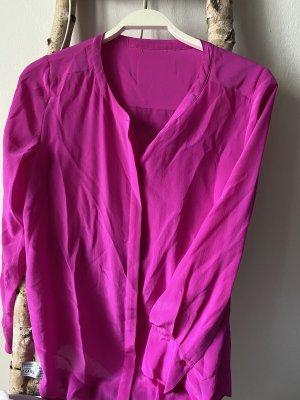 Seide Bluse Fuchsia Pink Gr.XS