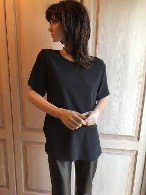 Seide Bluse Tunika schwarz echte Seide 36