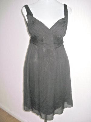 Seide Kleid schwarz Gr 36/38