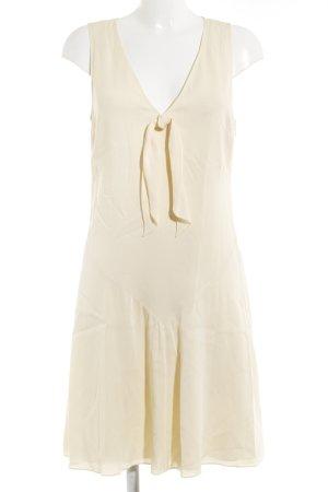 Seide Ralph Lauren A-Linien Kleid hellgelb schlichter Stil