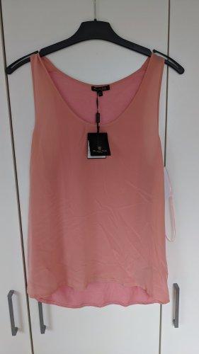 Massimo Dutti Silk Top pink silk