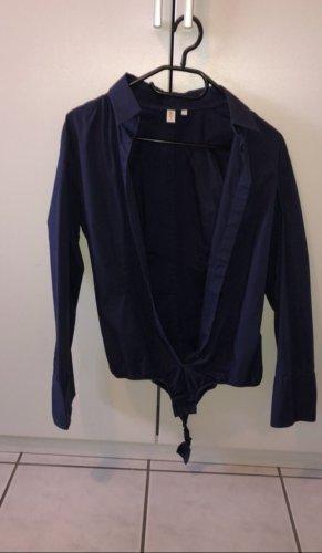 Seidensticker Bodysuit Blouse blue-dark blue