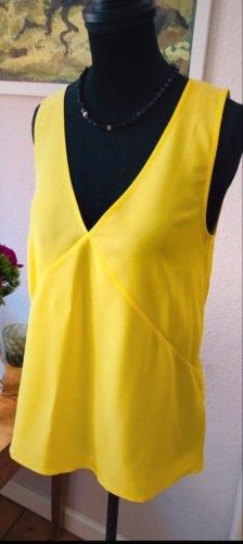 Massimo Dutti Silk Top yellow