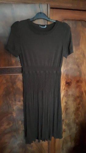 Seide-wolle Strenesse braunes Kleid