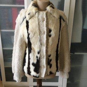 Seidel Celle Pelz Jacke aus Wolle Gr. 40 top