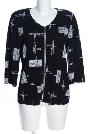 Seidel Kurzjacke schwarz-weiß abstraktes Muster Casual-Look
