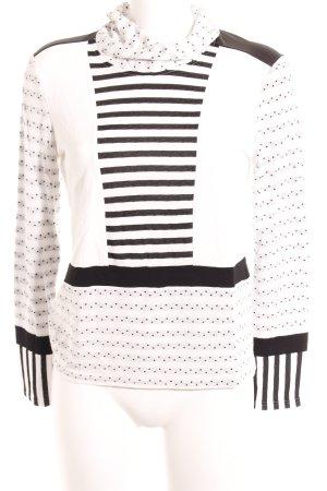 Seidel Rollkragenpullover schwarz-weiß Punktemuster Street-Fashion-Look