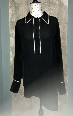 Liviana Conti Long Blouse black-white