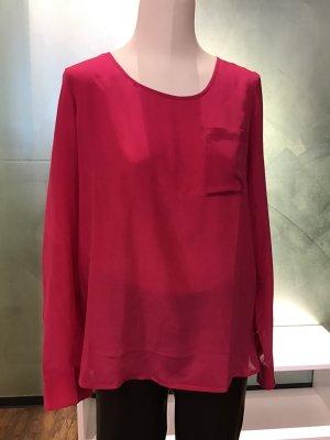 Seiden-Bluse in kräftigem Pink