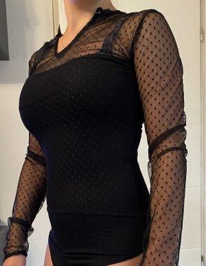 Empiècement de blouses noir