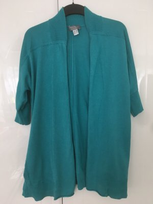 Peter Hahn Cardigan turquoise silk
