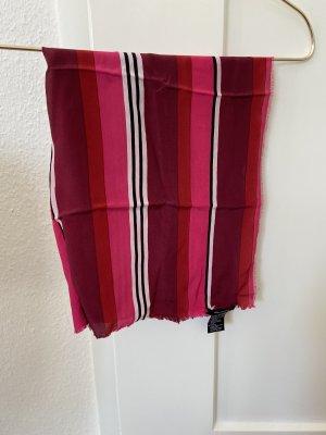 Hallhuber Foulard en soie multicolore soie