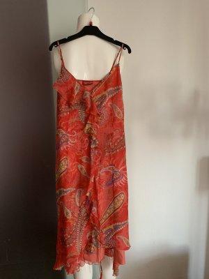Seiden Chiffon Kleid mit Rüschen Gr 32 34 XS von Taifun