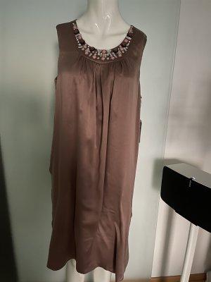 Seiden Kleid mit Steine Verzierung Gr 40 L