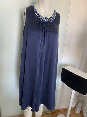 Seiden Kleid mit Verzierung Gr 40 L