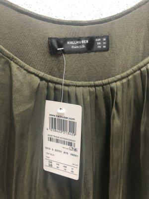 Hallhuber Silk Top khaki