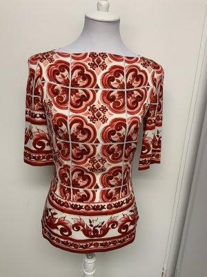 Dolce & Gabbana Jedwabny top czerwony-w kolorze białej wełny