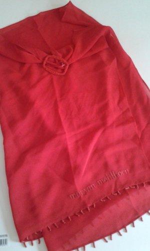 Tenue de plage rouge soie