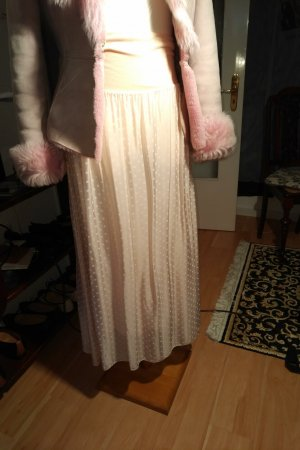 Made in Italy Silk Skirt pink-white silk