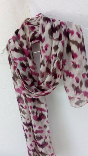 Vintage Bufanda de seda multicolor