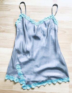 Stefanel Lace Top grey-mint