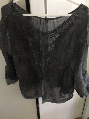 Seiden Tunika Bluse von Made in Italy